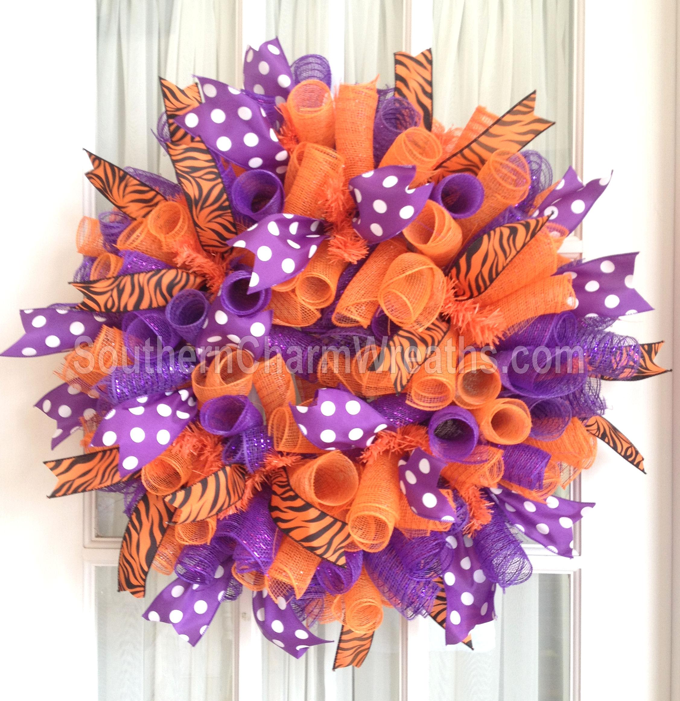 Makewreaths deco mesh curly clemson purple 4l baditri Gallery