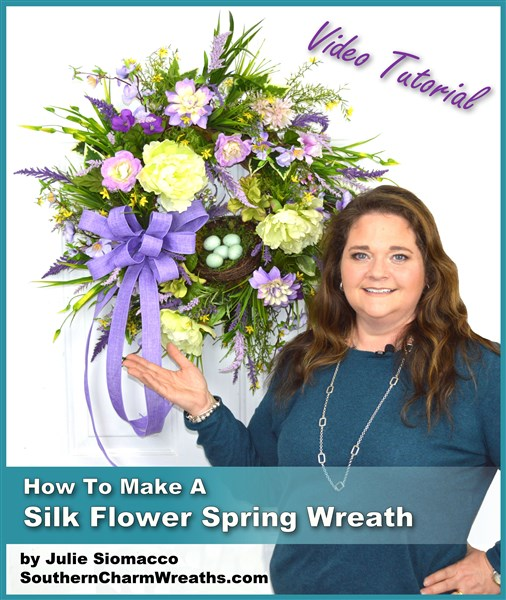 Diy how to make a silk flower spring wreath using a simple Teach me how to draw a flower