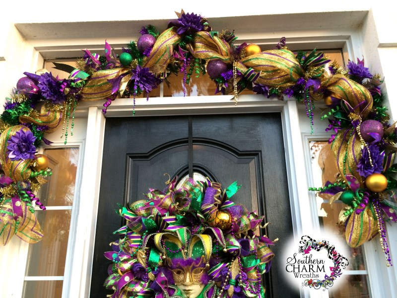 Deco Mesh Mardi Gras Door - Learn to make this yourself!